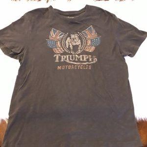 Triumph Motorcycles Bulldog Vintage Graphic Tee L
